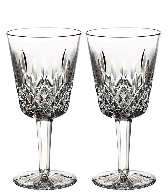 Waterford Lismore Crystal Goblet Pair
