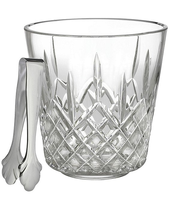 Waterford Lismore Crystal Ice Bucket With Tongs