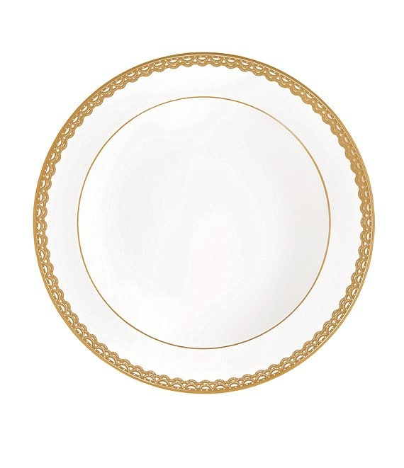 Waterford Lismore Lace Gold Bone China Rimmed Soup Bowl