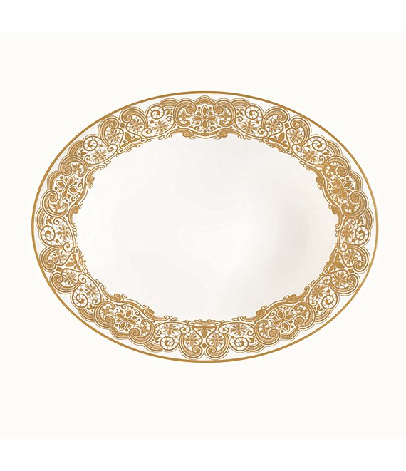 Waterford Lismore Lace Gold Bone China Vegetable Bowl