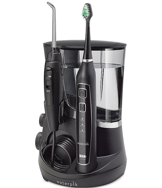 Color:Black - Image 1 - Complete Care 5.0 Flosser and Electric Toothbrush
