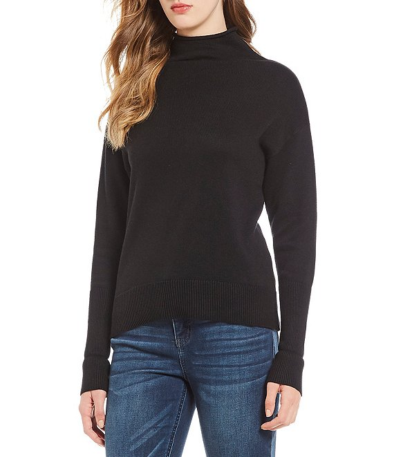 Westbound Petite Size Long Sleeve Mock Neck Sweater