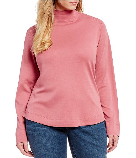 Westbound Plus Size Mock Neck Top