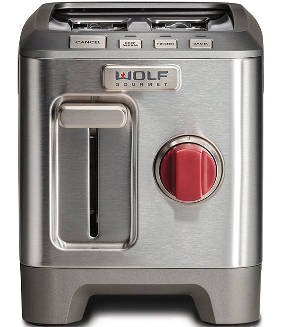 Color:Stainless Steel - Image 1 - 2-slice Toaster With Red Knob