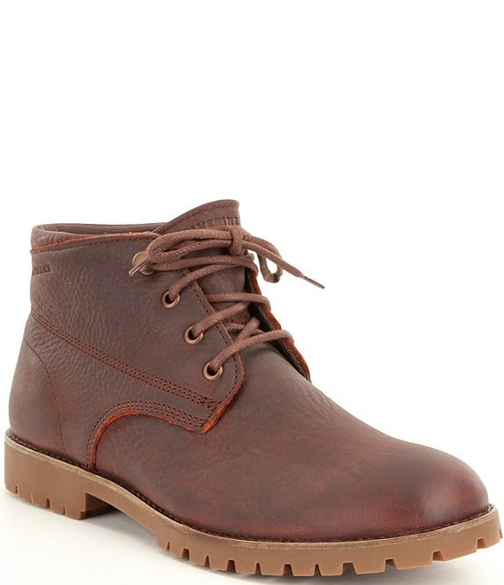 833a74ccff9 Wolverine Cort Men's Leather Waterproof Lace-Up Short Chukka Boots