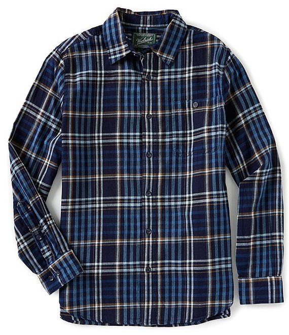 Woolrich Eco-Rich Modern-Fit Plaid Long-Sleeve Woven Shirt