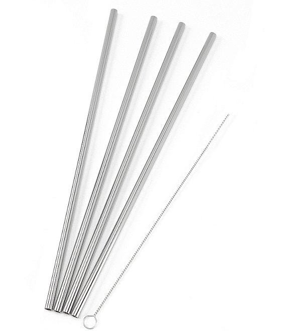 w&p Porter Stainless Steel Set of 4 Straw Set