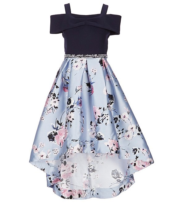 Xtraordinary Big Girls 7-16 Cold-Shoulder Solid/Floral Ballgown