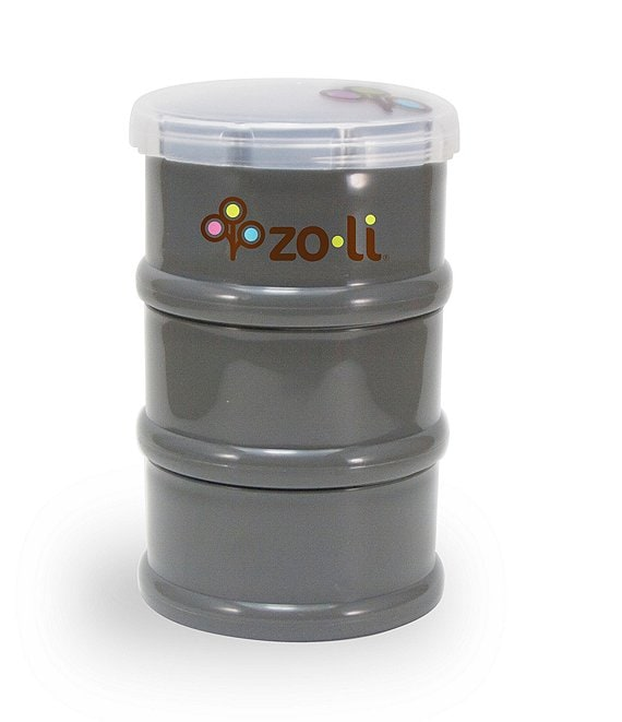 Color:Grey - Image 1 - Zoli PODS Stackable Snack Containers