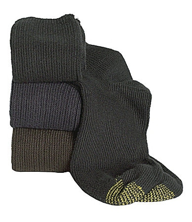 Gold Toe Extended Size Cotton Fluffies Socks 3-Pack