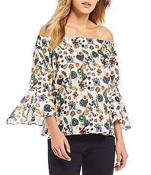 Antonio Melani Kate Floral Print Blouse Made With Liberty Fabrics