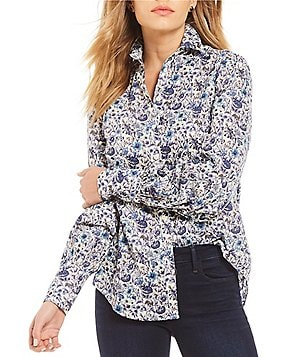 Antonio Melani Victoria Floral Print Blouse Made With Liberty Fabrics