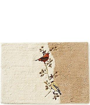 avanti linens gilded birds bath rug image