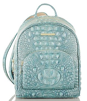 Brahmin Melbourne Collection Mini Dartmouth Crocodile Embossed Backpack