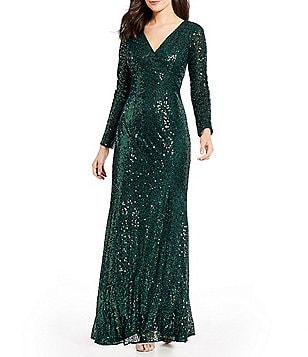 Sale & Clearance Women\'s Long-Sleeve Formal Dresses & Gowns | Dillards