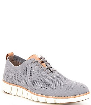 Cole Haan Men\u0027s ZeroGrand Stitchlite Perforated Knit Lace Up Oxfords