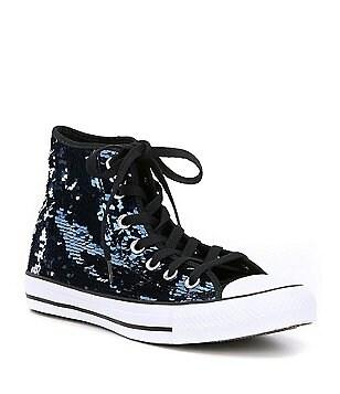 converse shoes for girls high cut black. converse women´s chuck taylor® all star® sequin hi top sneakers shoes for girls high cut black