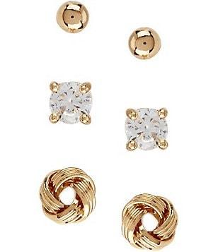 Dillard S Tailored Sterling Silver Stud Earring Set
