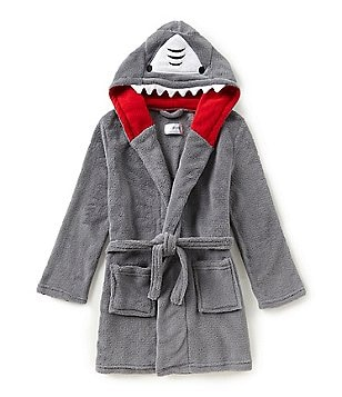 clearance kids boys pajamas big boys pajamas  dream life by us angels big boys 8 14 shark hooded robe