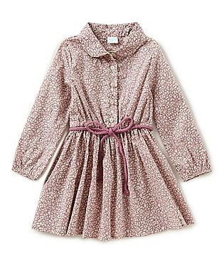 Edgehill Collection Made With Liberty Fabrics Little Girls 2T-6X Peter-Pan Collar Dress