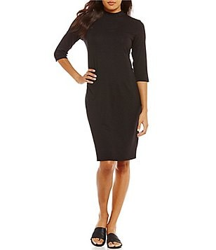 Eileen Fisher Mock Neck Dress