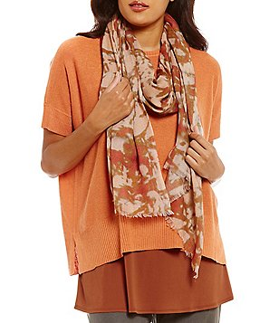 Eileen Fisher Wool Silk Digital Pathways Scarf