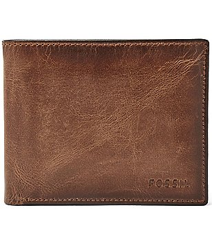 Mens wallets money clips dillards fossil derrick leather rfid blocking passcase colourmoves