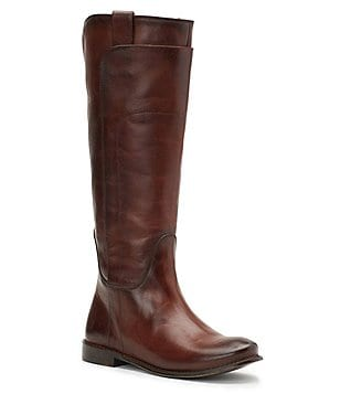 Regia tall boot with buckle and lace up back dresses