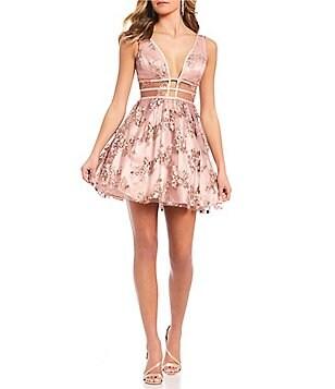 GB Social Sheer Floral Dress