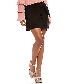 GB Tie Front Wrap Skirt