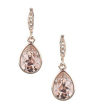 Givenchy Crystal Drop Statement Earrings