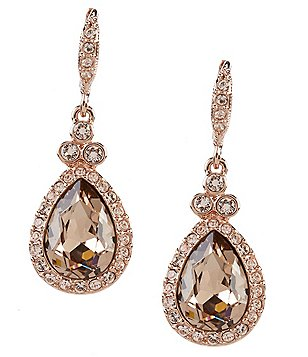 Givenchy Pav Pear Drop Statement Earrings