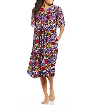 Marvelous Go Softly Floral Crinkled Patio Dress