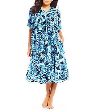 Go Softly Tie Dye Crinkled Patio Dress