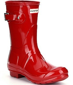 Red And Leopard Rain Boots