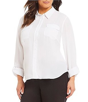 Investments White Plus Size Business Dress Suits Dillards