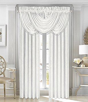 J. Queen New York Bianco Damask Window Treatments