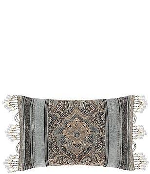J. Queen New York Provence Beaded Tasseled Boudoir Pillow