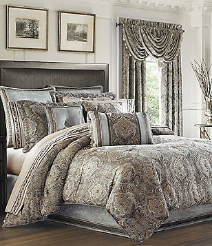 Gentil J. Queen New York Provence Damask Chenille Comforter Set