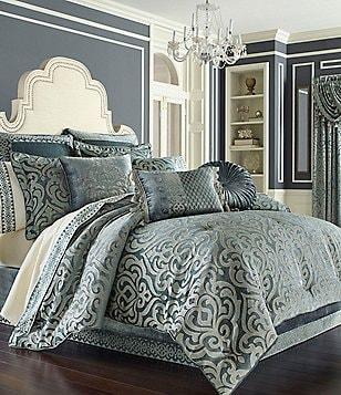 j queen new york sicily puffed damask comforter set - Queen Down Comforter
