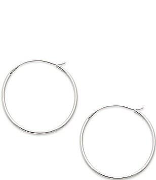 James Avery Medium Swedged Hoop Earrings