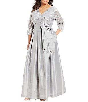Plus-Size 3/4-Sleeve Formal Dresses & Gowns | Dillards