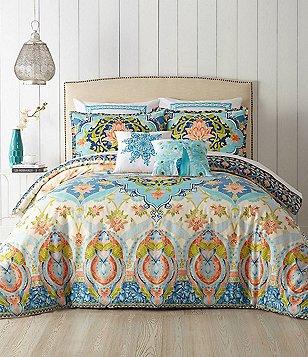 jessica simpson aquarius floral medallion comforter mini set