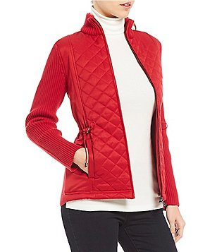 womens red sweaters: Women's Jackets & Vests | Dillards.com