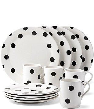 kate spade new york All in Good Taste Deco Dot Stoneware 12-PIece Dinnerware Set  sc 1 st  Dillardu0027s & Casual Everyday Dinnerware: Plates  Dishes u0026 Sets | Dillards