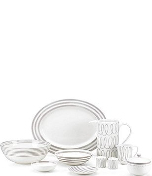 kate spade new york Charlotte Street Porcelain China  sc 1 st  Dillardu0027s & Casual Everyday Dinnerware: Plates  Dishes u0026 Sets | Dillards