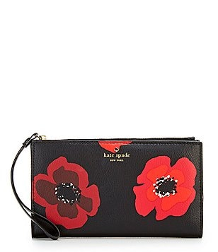 kate spade new york Hyde Lane Eliza Poppies Continental Wallet