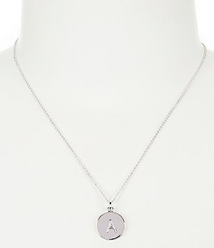 Womens pendant necklaces dillards kate spade new york initial pendant necklace aloadofball Gallery