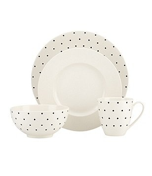kate spade new york Larabee Road Dotted Stoneware 4-Piece Place Setting  sc 1 st  Dillard\u0027s & kate spade new york Casual Everyday Dinnerware: Plates  Dishes ...