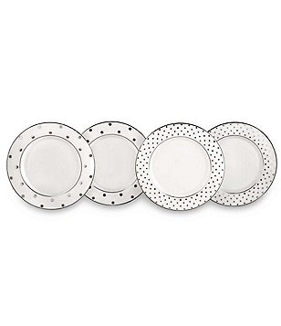kate spade new york larabee road platinum china set of 4 tidbit plates image